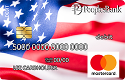 U.S. Flag debit card