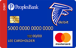West Sioux Falcons debit card