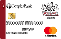 Western Christian Wolfpack debit card