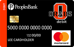 Sheldon ORABS debit card