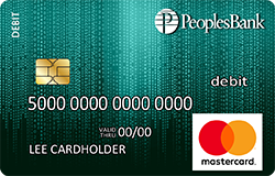 Blue Matrix debit card
