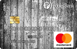 Rustic Wood debit card