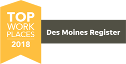 Des Moines Register Top Workplaces 2018 banner