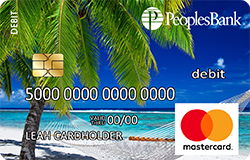 Beach debit card