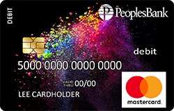 Paint debit card