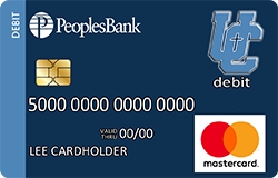 Unity Christian Knights debit card
